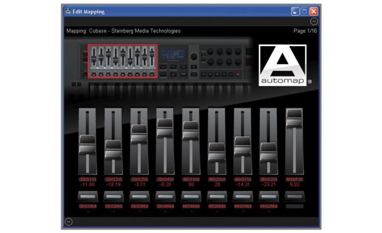 Novation Automap 4 Edit Mapping Mixer