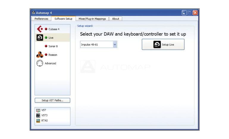 Novation Automap 4 soft setup