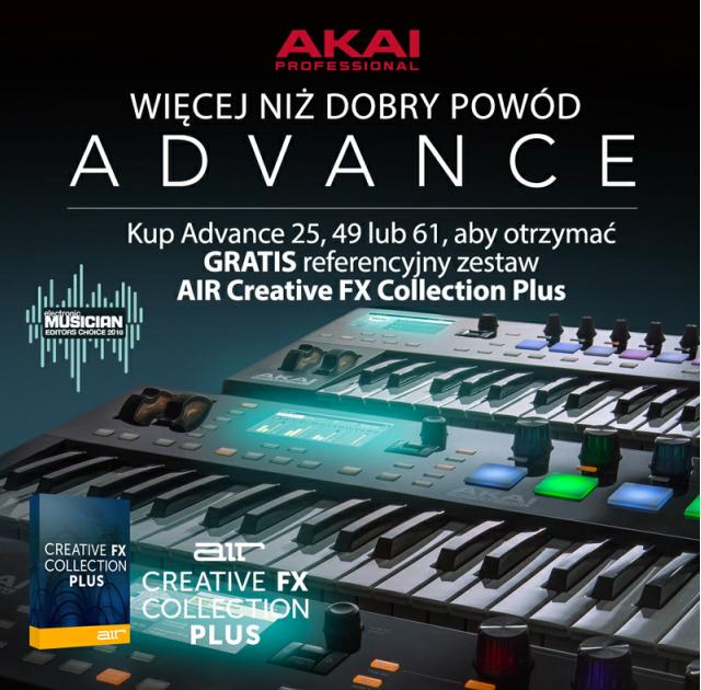 Akai Advance i bezpłatna kolekcja wtyczek AIR Creative FX Plus