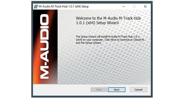 M-Audio M-Track HUB soft 01