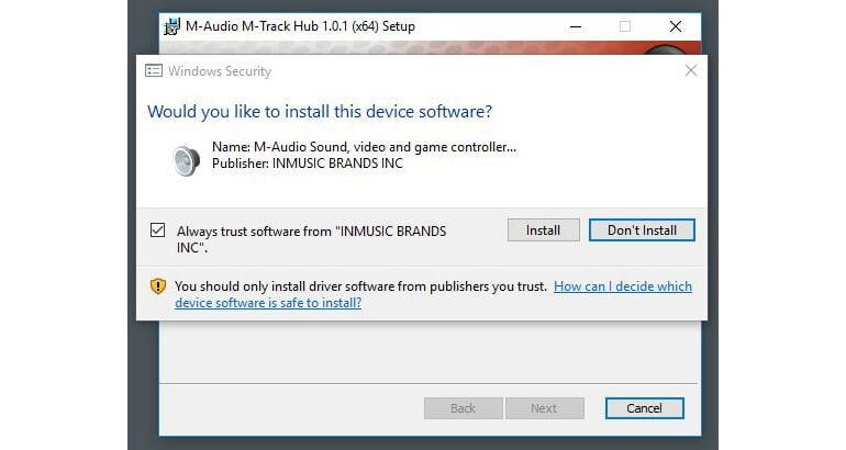 M-Audio M-Track HUB soft 02