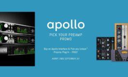 Promocja Universal Audio – darmowy preamp do interfejsu Apollo