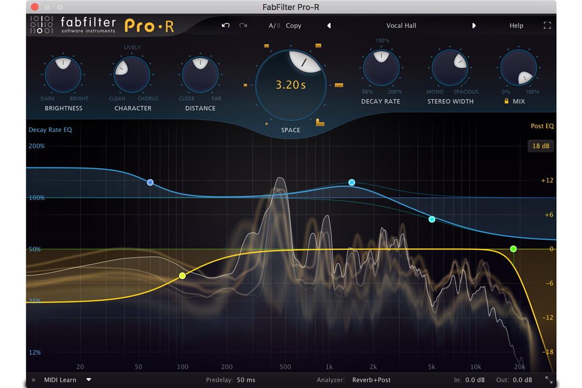 FabFilter Pro-R – algorytmiczny pogłos dla komputerów PC i Mac
