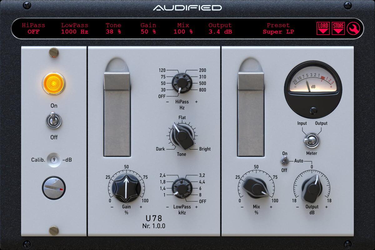 Audified U78 Saturator – wirtualny saturator