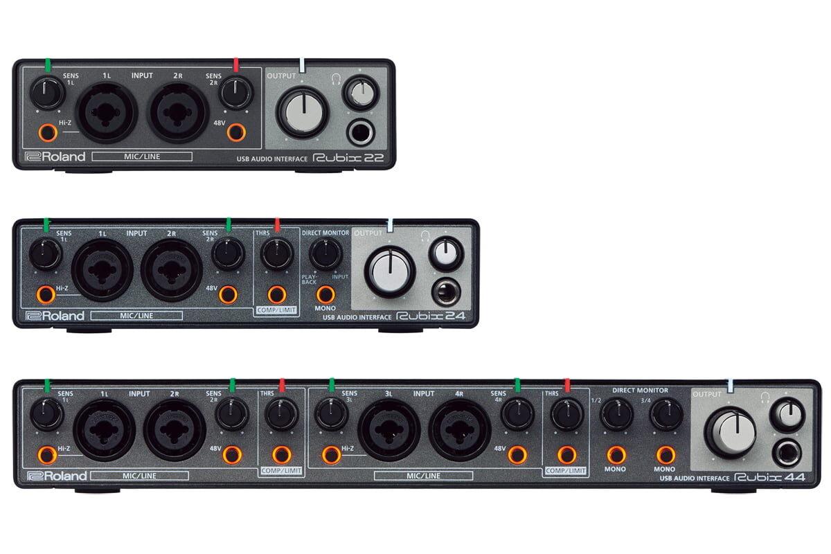 Roland Rubix22, Rubix24 i Rubix44 – nowe interfejsy