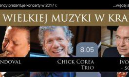 Chick Corea, Ivo Pogorelich i Arturo Sandoval – trzy gwiazdy na koncertach w Krakowie