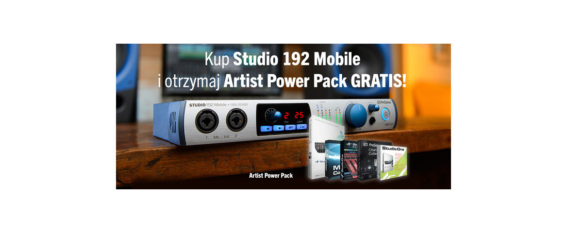 Artist Power Pack i PreSonus Studio 192 Mobile