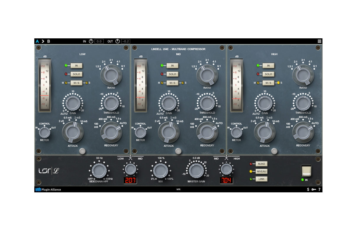 Lindell Audio 354E – kompresor wielopasmowy