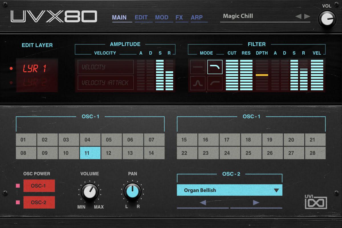 UVI UVX-80 – nowy syntezator wirtualny