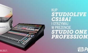 PreSonus StudioLive CS18AI / Studio One 3 – promocja