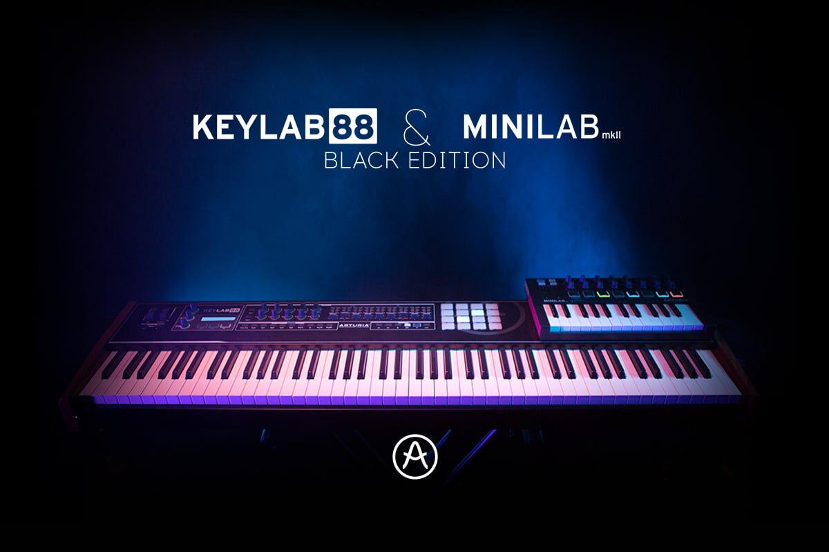 Klawiatury Arturia KeyLab 88 Black Edition i MiniLab MkII Black Edition już dostępne