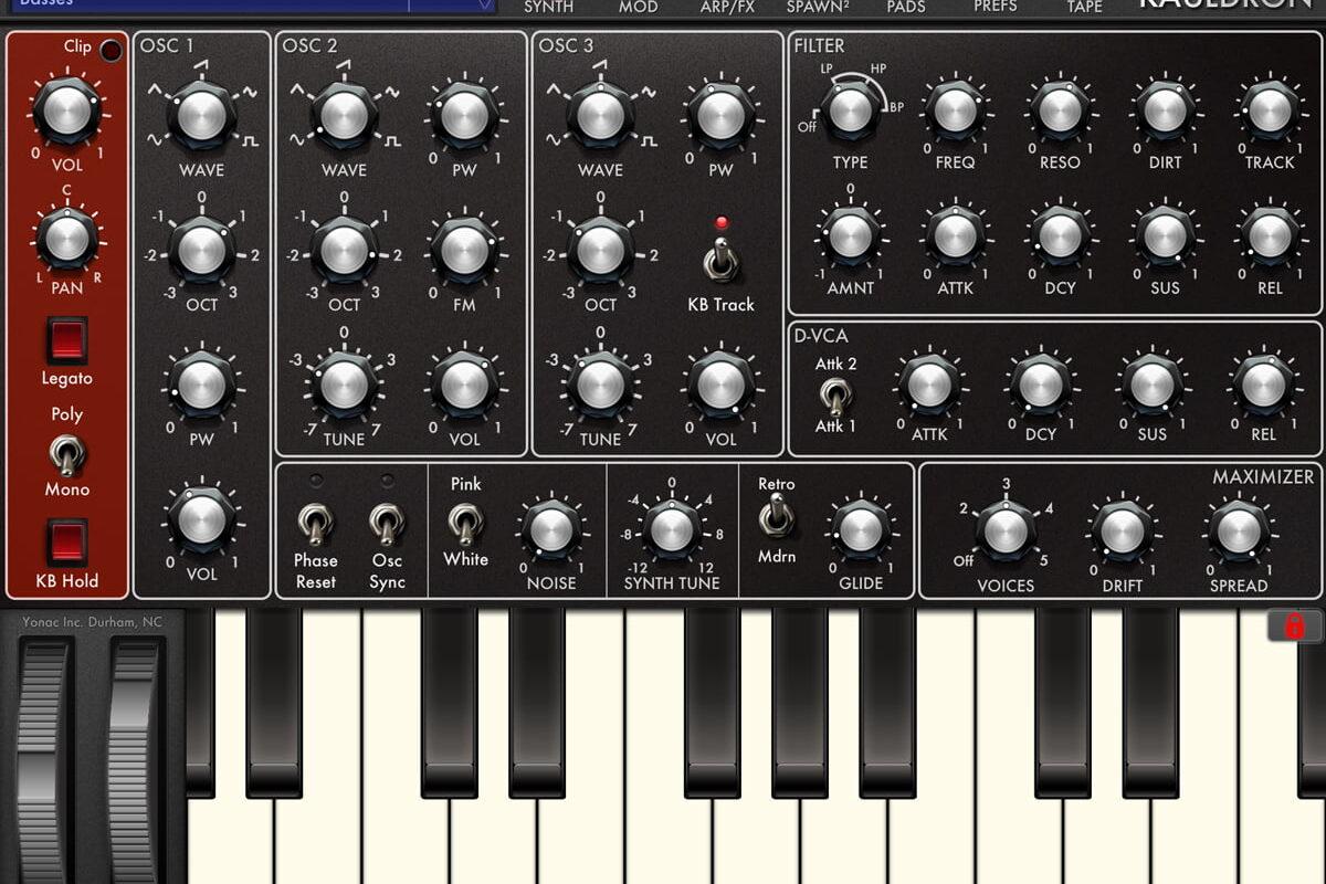 Yonac Kauldron – nowy syntezator dla iOS