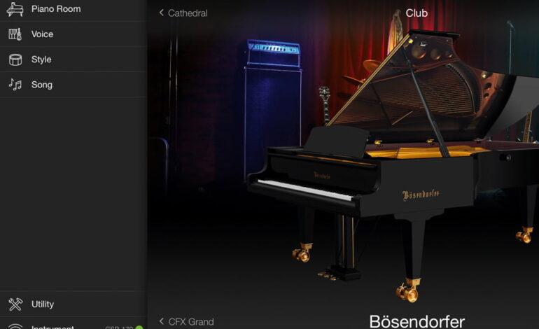 Yamaha Smart Pianist - menu polaczenie
