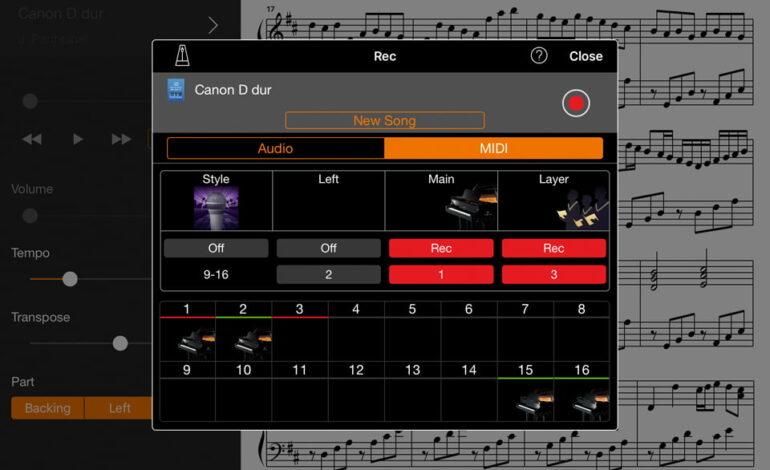 Yamaha Smart Pianist - rejestrator