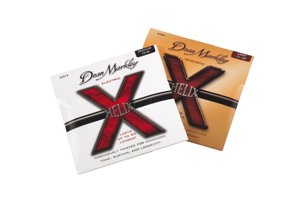 Dean Markley Helix Acoustic, Helix Electric – test strun