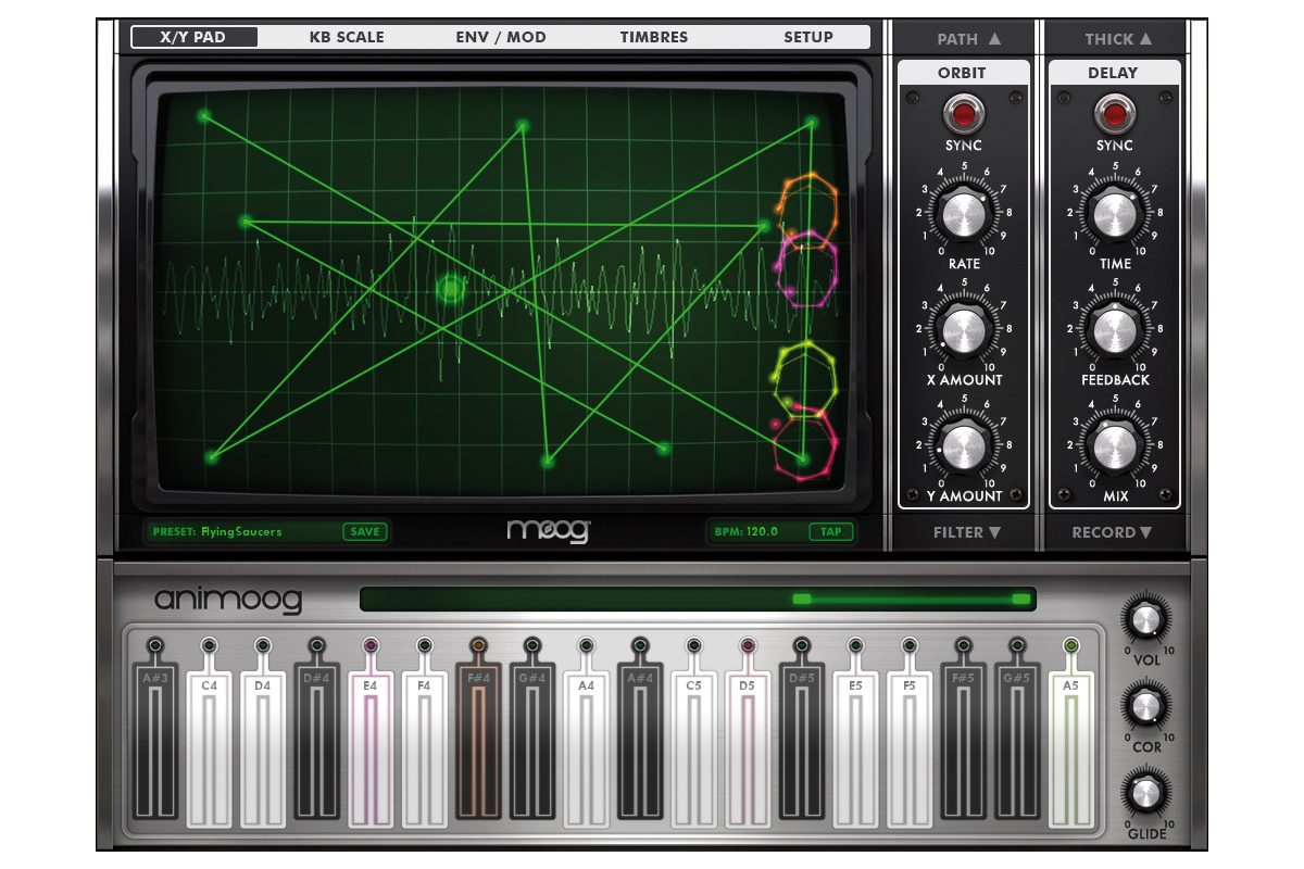 Moog Animoog – test aplikacji dla iPada