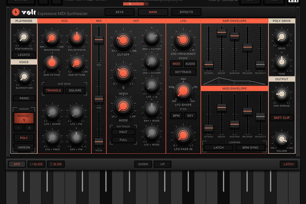 Numerical Audio VOLT – polifoniczny syntezator dla iOS