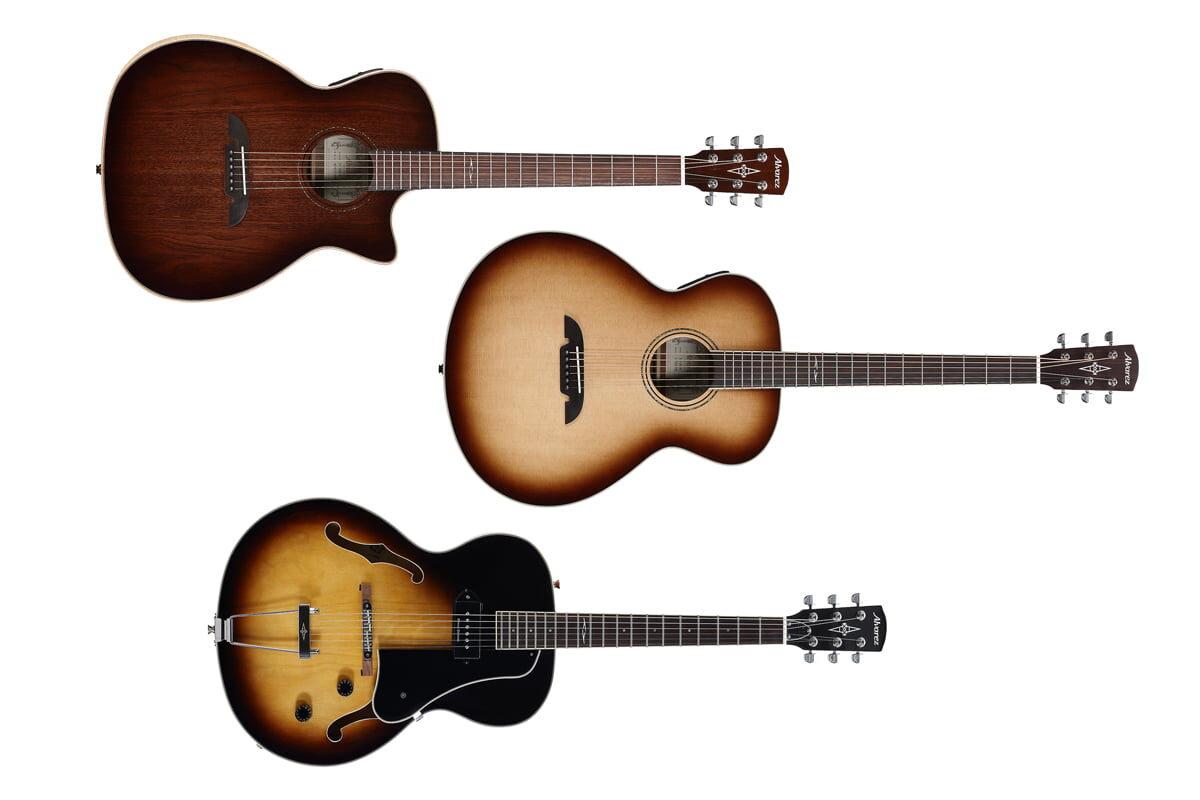 Alvarez – gitary ABT60ESHB, AGW77AR, AGW77CEAR i AAT25