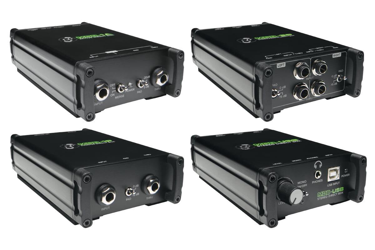 Mackie – cztery DI-boxy z serii MDB