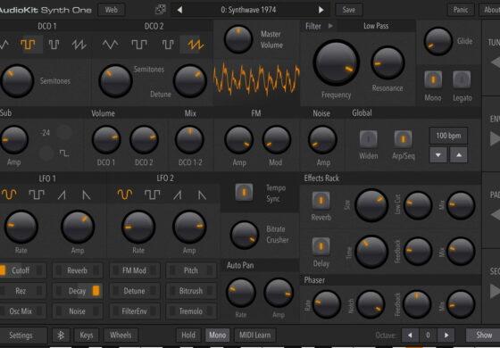 AudioKit Synth One – nowy syntezator dla iOS