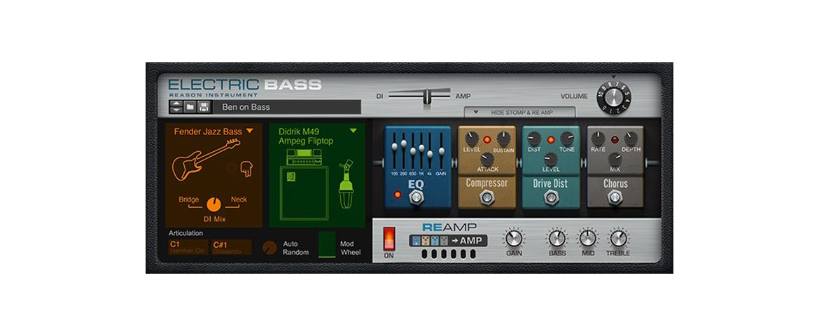 Propellerhead Reason Electric Bass
