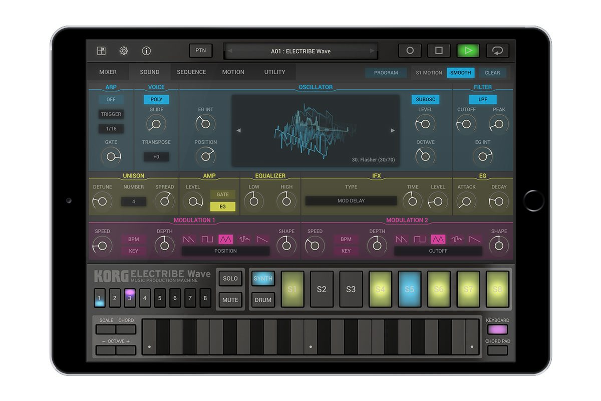Korg ELECTRIBE Wave – Music Production Machine [iOS]