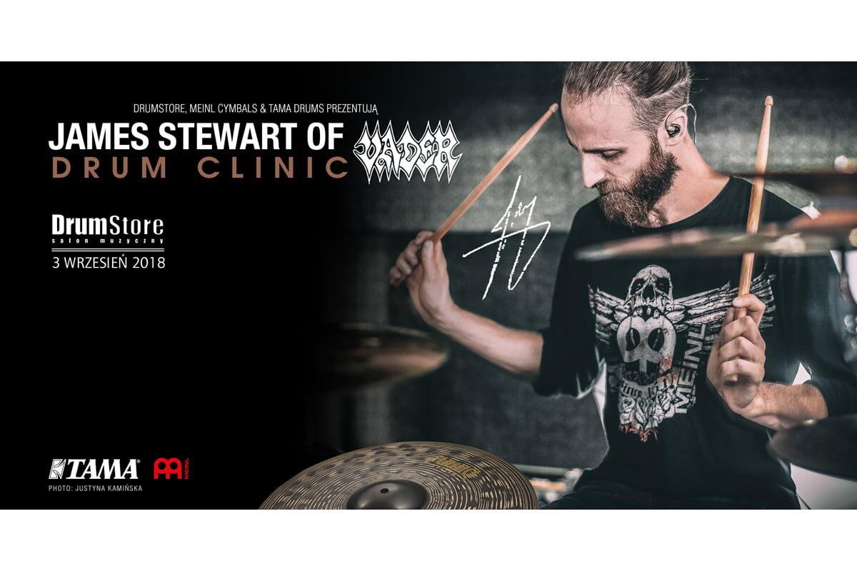 Meinl Cymbals i Drumstore zapraszają na warsztaty perkusyjne Jamesa Stewarta
