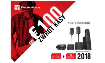 Electro-Voice zwraca do 100 € za zakup zestawów głośnikowych ELX200