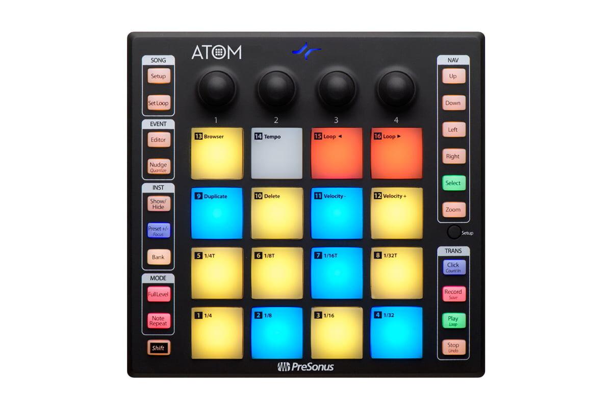 PreSonus ATOM – nowy kontroler MIDI