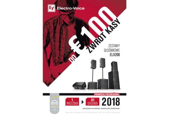Promocja przedłużona! Electro-Voice zwraca kasę do końca roku