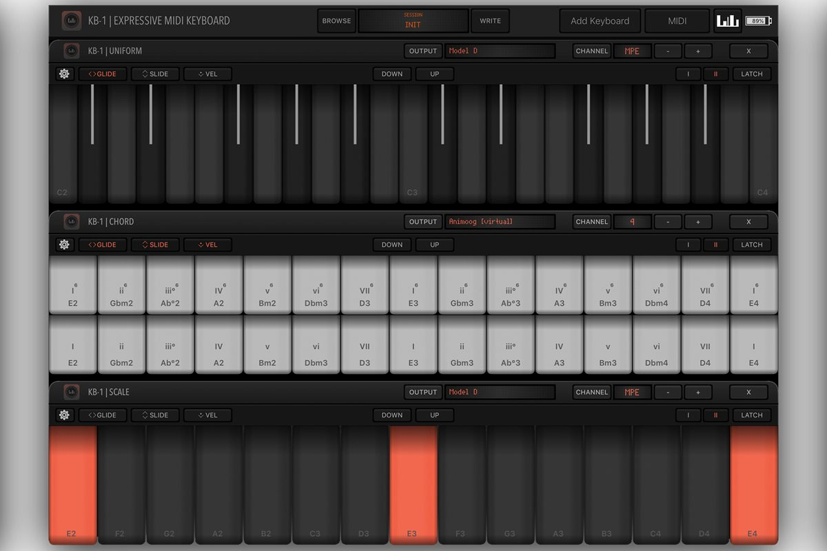 Numerical Audio KB-1 Expressive MIDI Keyboard [iOS]