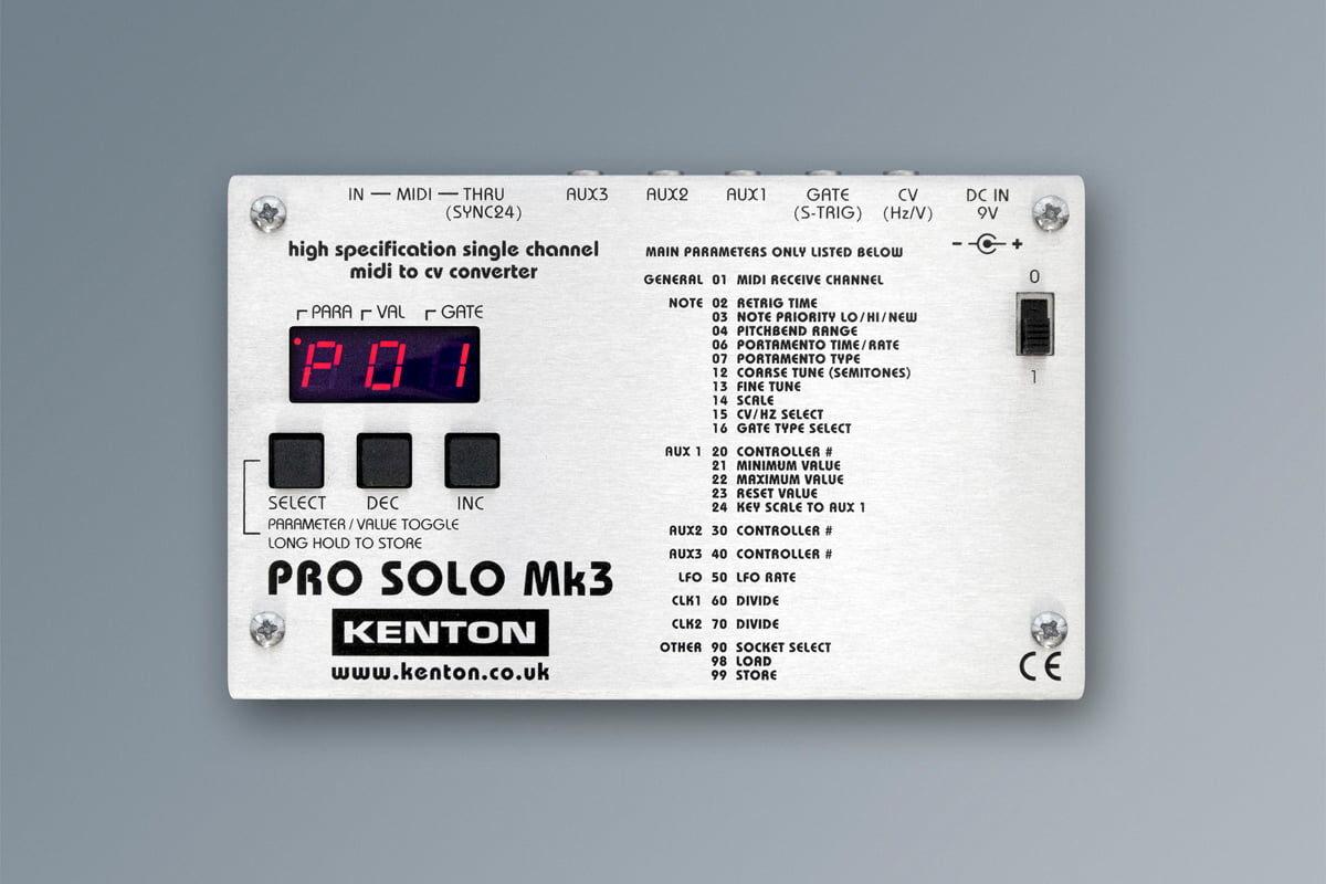 Kenton PRO SOLO Mk3 – nowy konwerter MIDI-CV