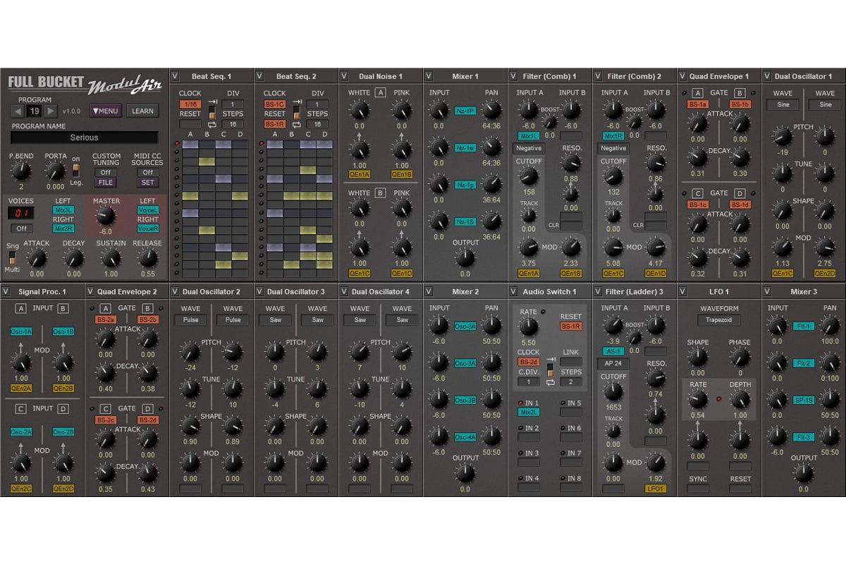 Full Bucket Music ModulAir – darmowy syntezator modularny