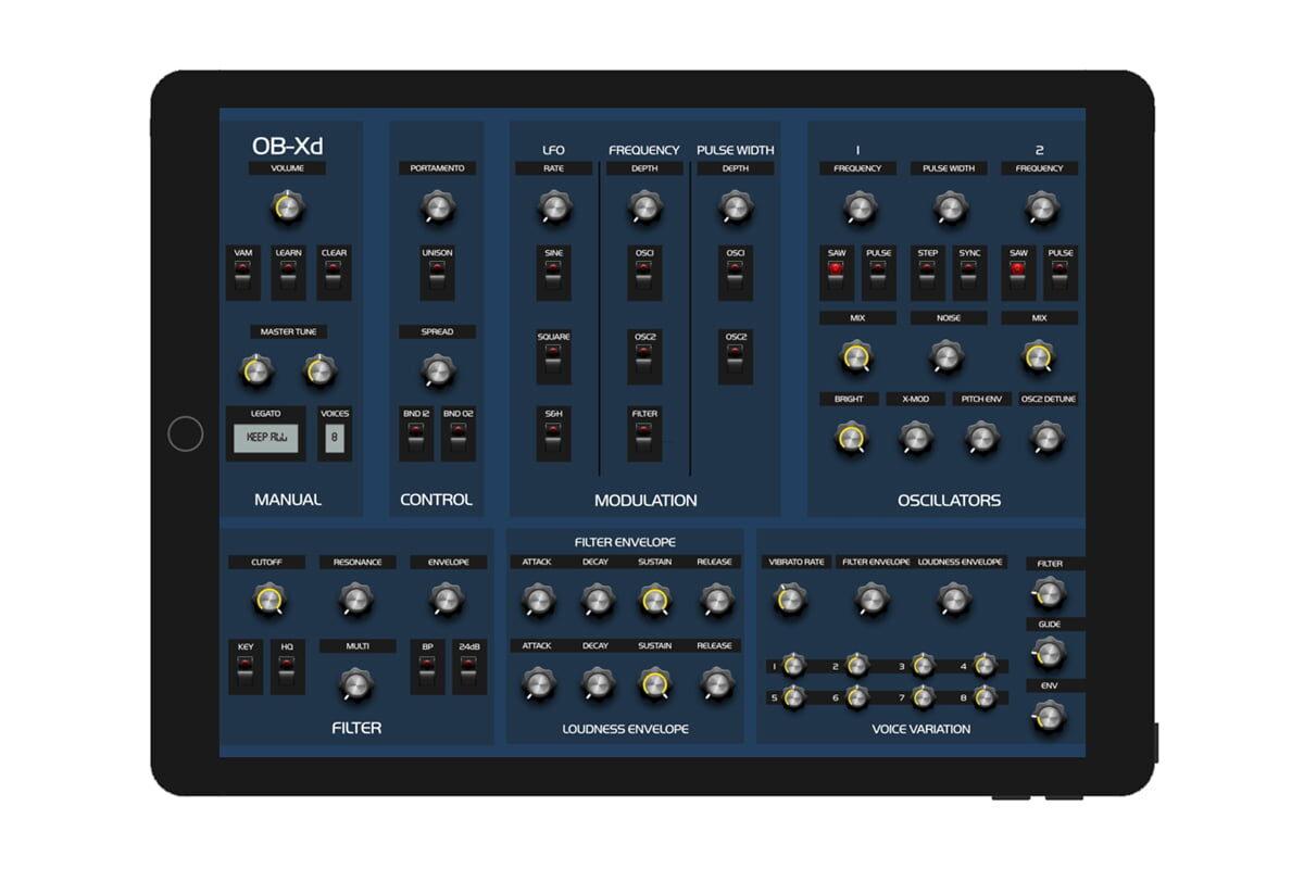 DiscoDSP OB-Xd – nowy syntezator dla iOS