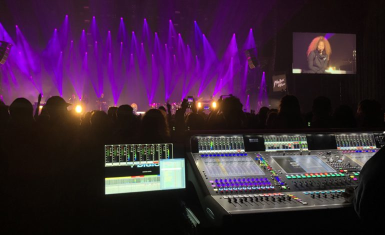 DiGiCo SD7 Quantum koncert Janet Jackson
