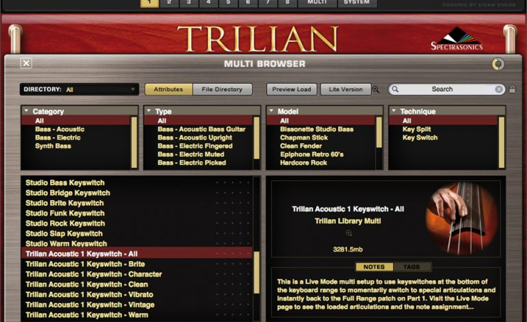 Spectrasonics Trillian Browser