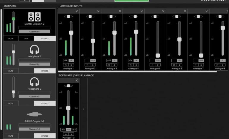Focusrite Control 02