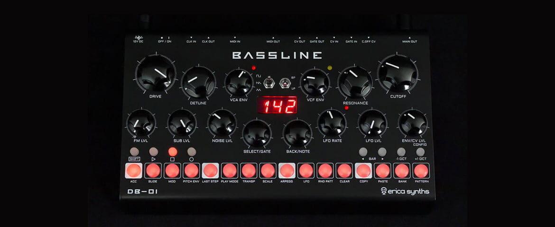Bassline DB-01 – desktopowy syntezator firmy Erica Synths