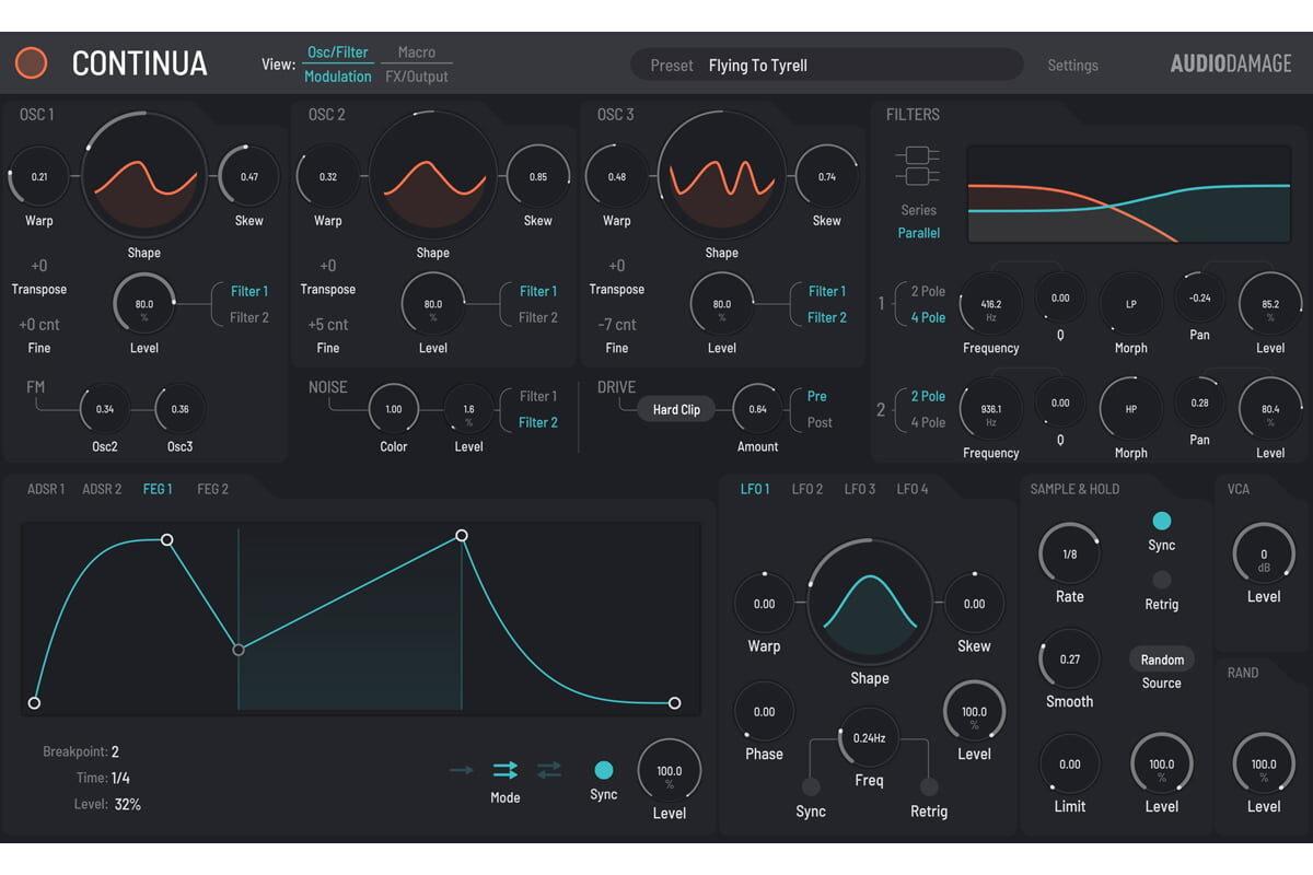 Audio Damage Continua – syntezator wirtualny