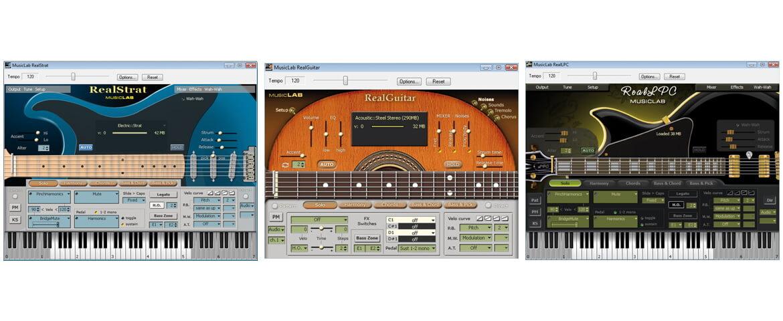 MusicLab RealGuitar 2L, RealStrat, RealLPC – test