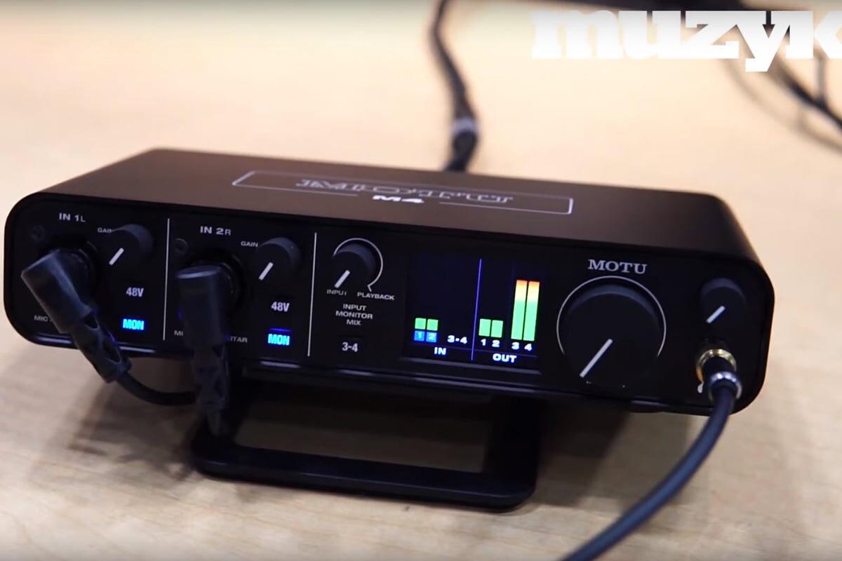 MOTU M2 i M4 na NAMM Show 2020 – wideo