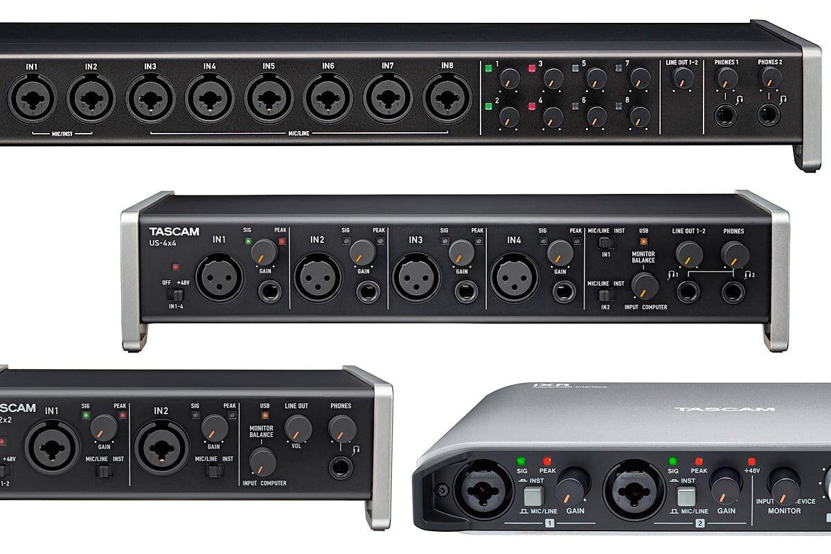 TASCAM – nowe sterowniki dla interfejsów audio