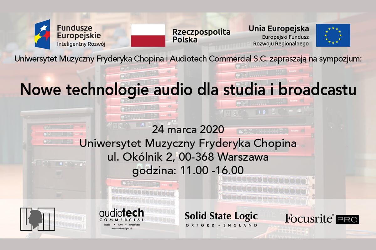"Sympozjum ""Nowe technologie audio dla studia i broadcastu"""