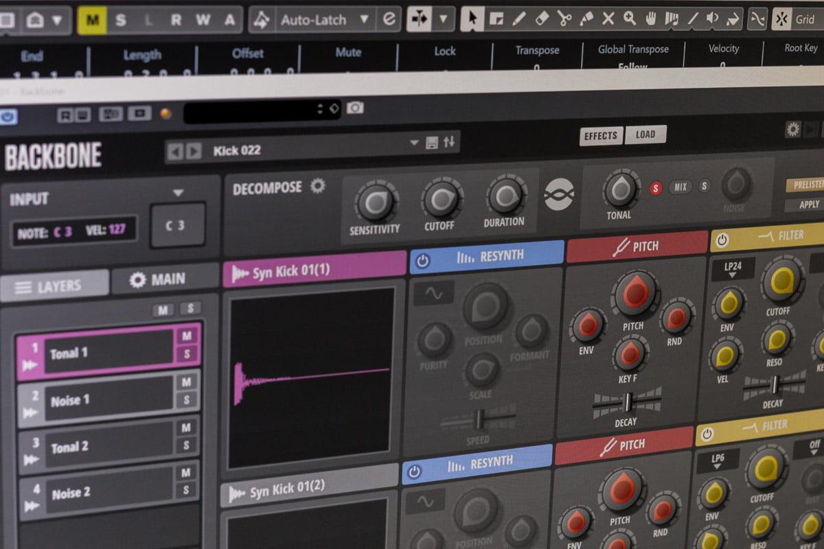 Steinberg Backbone – Drum Re-synthesizer