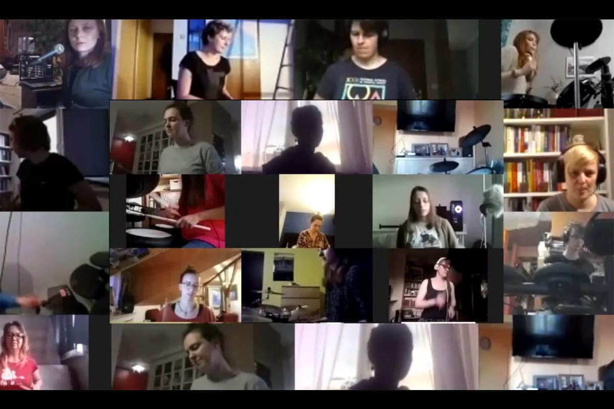 "Perkusistki na kwarantannie – ""The Kids Aren't Alright"" (wideo)"