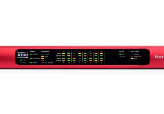Focusrite RedNet A16R – nowy interfejs z Dante
