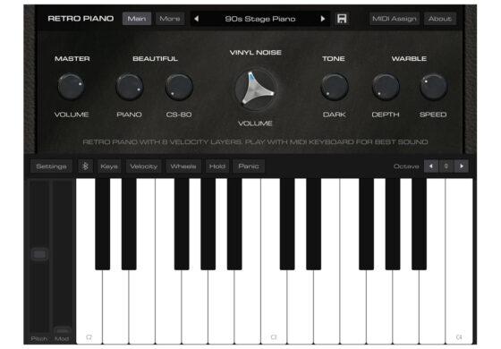 AudioKit Retro Piano – limitowany instrument dla iOS