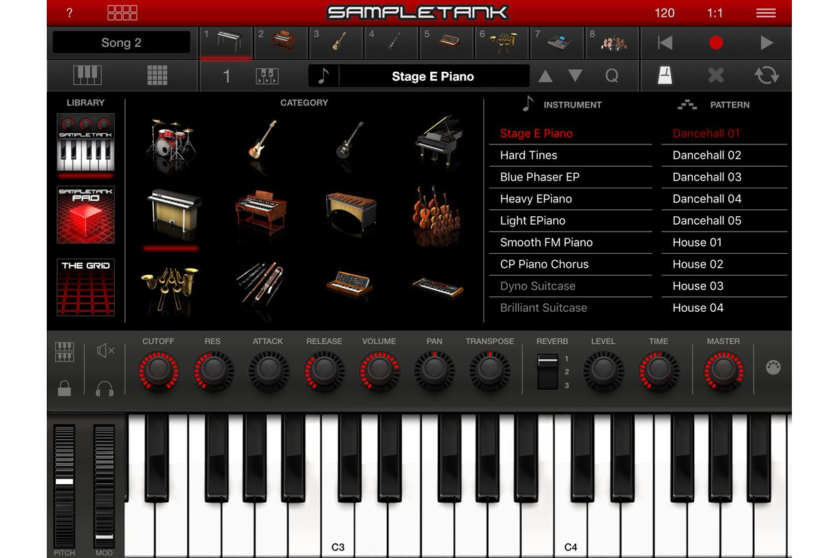 IK Multimedia SampleTank 2 dla iOS