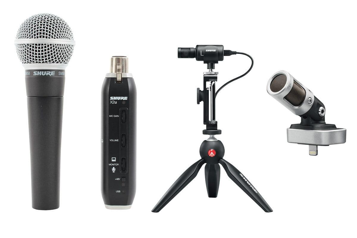 Przegląd – mikrofony do rejestracji mobilnej: Shure