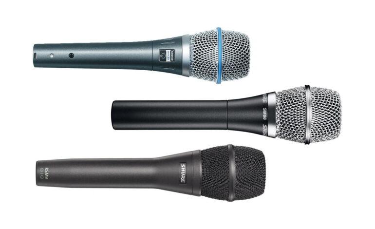 Przegląd – pojemnościowe mikrofony wokalne: Shure